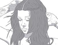 Anastacia Tychynska ( Plum Suicide) Illustration.