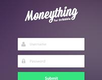 iOS7 Moneything - Login Screen Design
