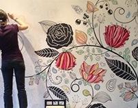 """Кафе """"Белый Сахар"""". Москва. Wall-painting"""