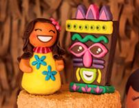 Hawaiian Fondant Cake!