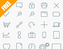 Free Set of Vector Line Icons