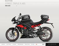 Triumph Motorcycles Street Triple CGI Configurator