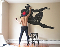 Wall painting - The creation of Adam 2013