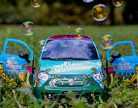 Mellow Mushroom Car Wrap