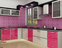 Lady pink kitchen...