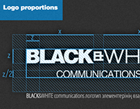 BLACK&WHITE communications brand identity