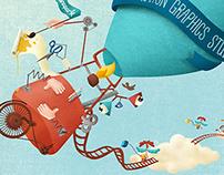 Illustration for Wetransfer // Lunapark Film