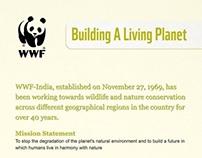 WWF Standee Design