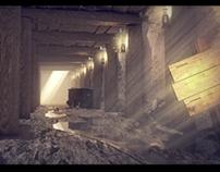 3D Mineshaft explosion