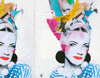 Carmen Miranda wheatpaste series