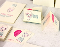 Silkscreened business cards