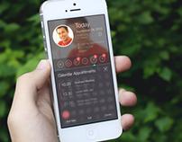 Organiser Calendar App Design for iPhone