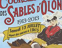 Affiche centenaire des courses