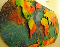 World Map Wall Piece