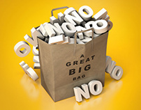 3D CGI Big Bag of NO