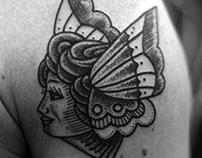 Girl Butterfly Tattoo