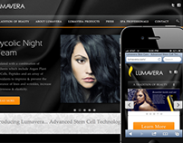 Lumavera Sin Care Website Design