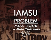 IAMSU x Problem at Santos NYC (CONCERT)