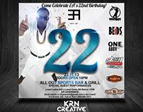 EA 22 - Birthday Party Flyer