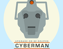 Cyberman Flat Icon