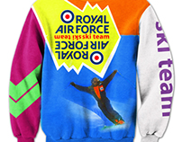 BRANDING / PRINT DESIGN - RAF Ski Team - Project Chile