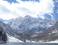 The Maroon Bells in The Winter