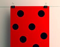 Pantone 032 Colour Poster