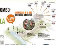 Guerrilleros de las Farc en la frontera con venezuela