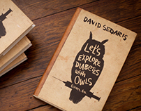 David Sedaris Book Cover Design and Illustration
