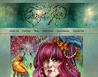 ArtOfGingerJess Website Design