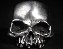 The details of Hollow Death skull ring