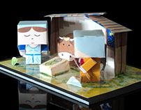 Pesebre 3D automontable