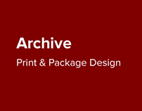 ARCHIVE: Print & Package Design