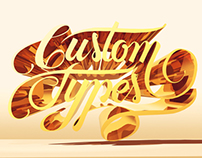 "Jackson Alves' ""Custom Type"" logo for a 3D class"