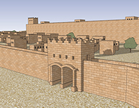 Walls of Jerusalem circa 444 B.C.
