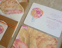 Plush Floral Invitations