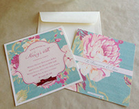 Spring Time- Floral Invitations