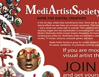 Advertising campaign for Media Artists Society