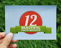 12 Beautiful Photo Mockups