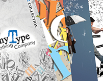 Typographic clothing catalog