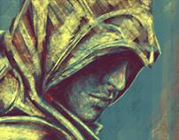 Ezio portrait colour studies (digital)