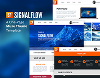 SignalFlow - One Page Muse Theme