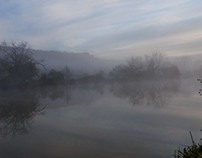 November Misty Morning on Thames