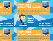 Free Computer Lesson Flyer