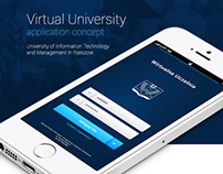 Virtual University -  application concept