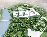Conceptual landscape design by the Plaszow marina