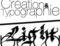 """Light - Bold"" / ""Création & typographie"""