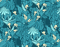 THE BLUEBERRY THIEF - PATTERN