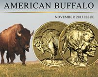 Reverse Proof Gold American Buffalo Newsletter