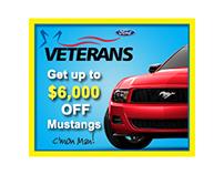 Veterans Ford basic digital ads/banners